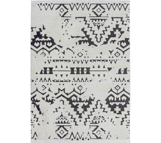 Tapis Tissé Agadir 110 Blanc Noir 120 X 170 Cm