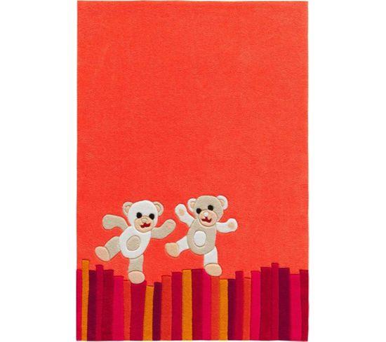 Tapis Tissé À La Main Joy 4117 Multicolore Teddy 110 X 160 Cm
