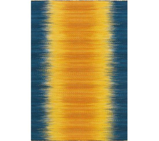 Tapis Tissé Sunset 8070 Gelb Blau 140 X 200 Cm