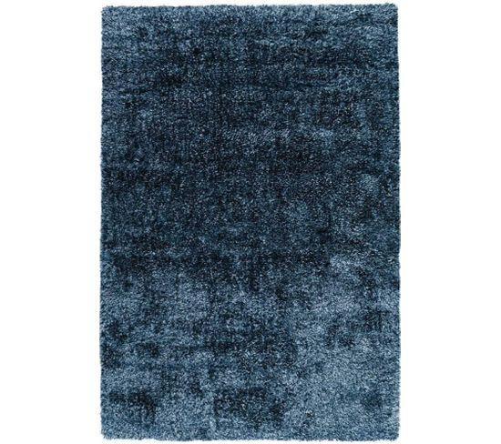 Tapis Grâce Shaggy Bleu 120 X 170 Cm