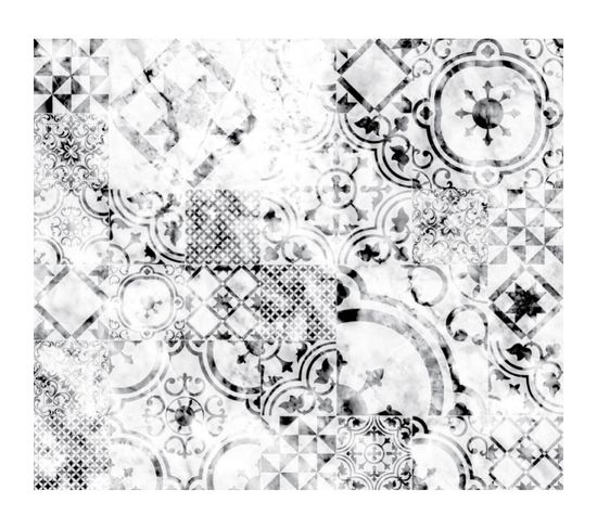 Crédence Adhésive En Alu Imitation Marbre - L. 70 X L. 60 Cm - Blanc