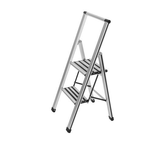 Escabeau Pliant Design En Aluminium - 2 Marches