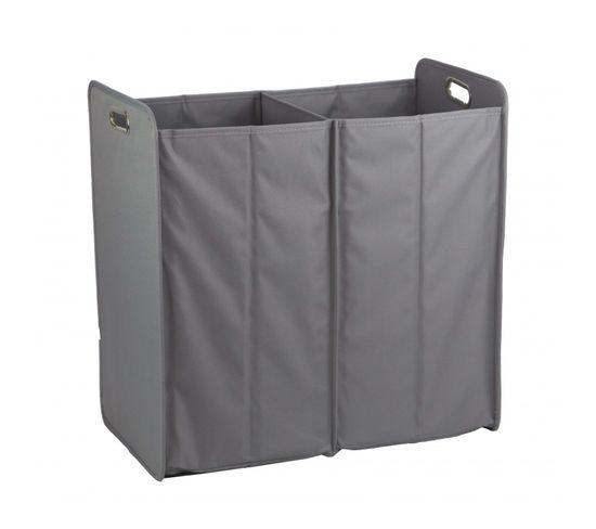 Panier À Linge Pliant Rectangulaire En Tissu Gris - Basket