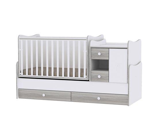 Lit Bébé Évolutif Combiné Transformable / Lit À Barreaux , Berceau Mini Max