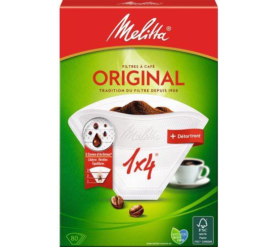 Filtre à café MELITTA 1x4/80 blanc + détartant bio