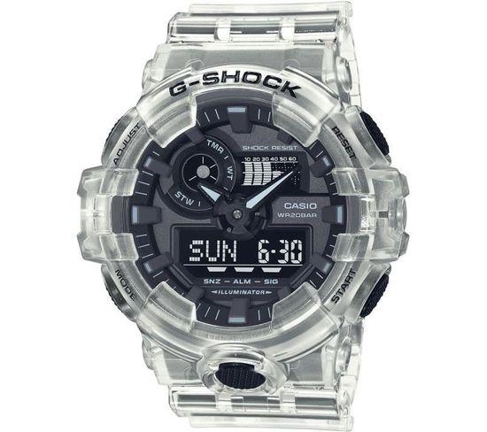 Montre G-shock - - Resitante Aux Chocs - Multifonctions - Blanc Transparent