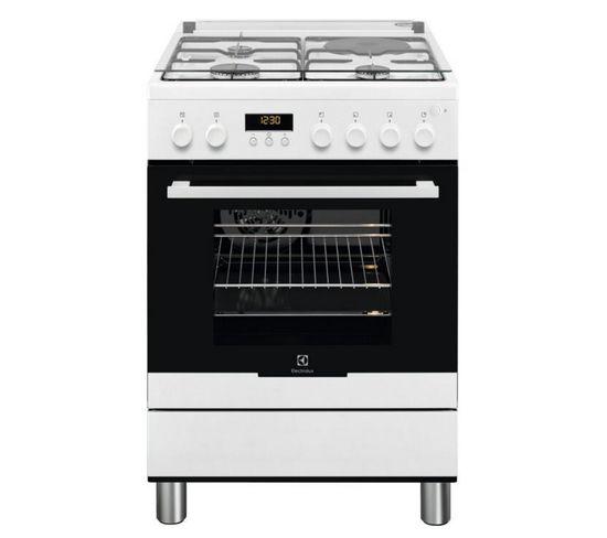 Cuisinière Mixte A 54l 4 Feux Blanc - Ekm66780ow