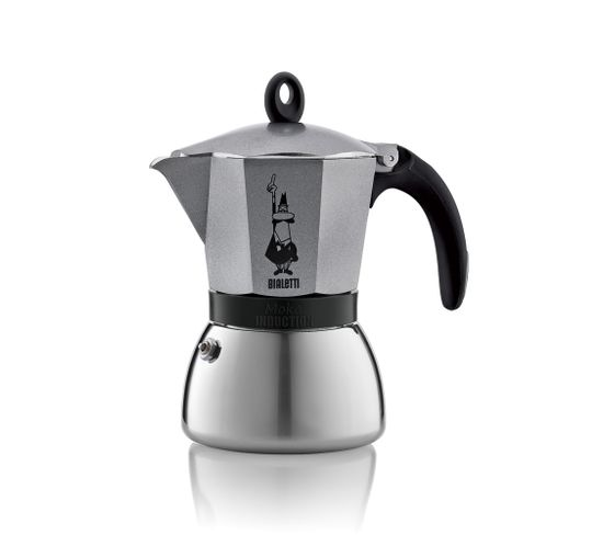 Cafetière italienne Moka Induction 3 Tasses Anthracite