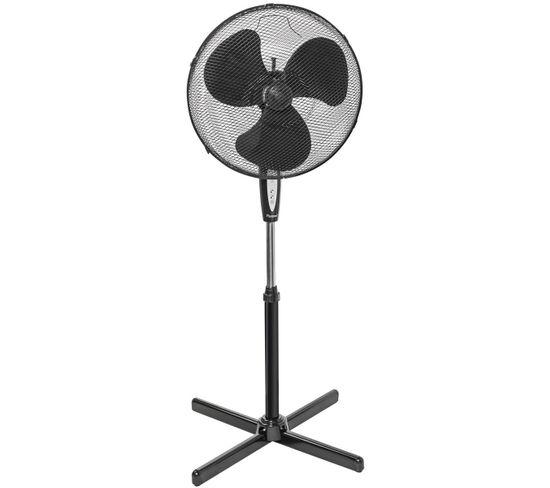 Ventilateur Sur Pied 45cm 45w Noir Avec Télécommande - Asv45zr