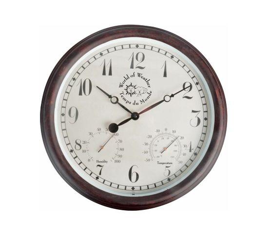 Horloge Thermomètre Hygromètre Extérieure