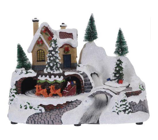 Scène LED de Noel en résine  divers décors