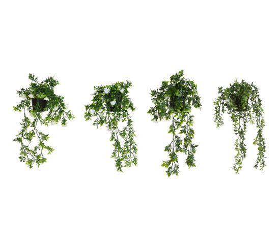 Plante artificielle H.50 cm LENA Blanc / Vert