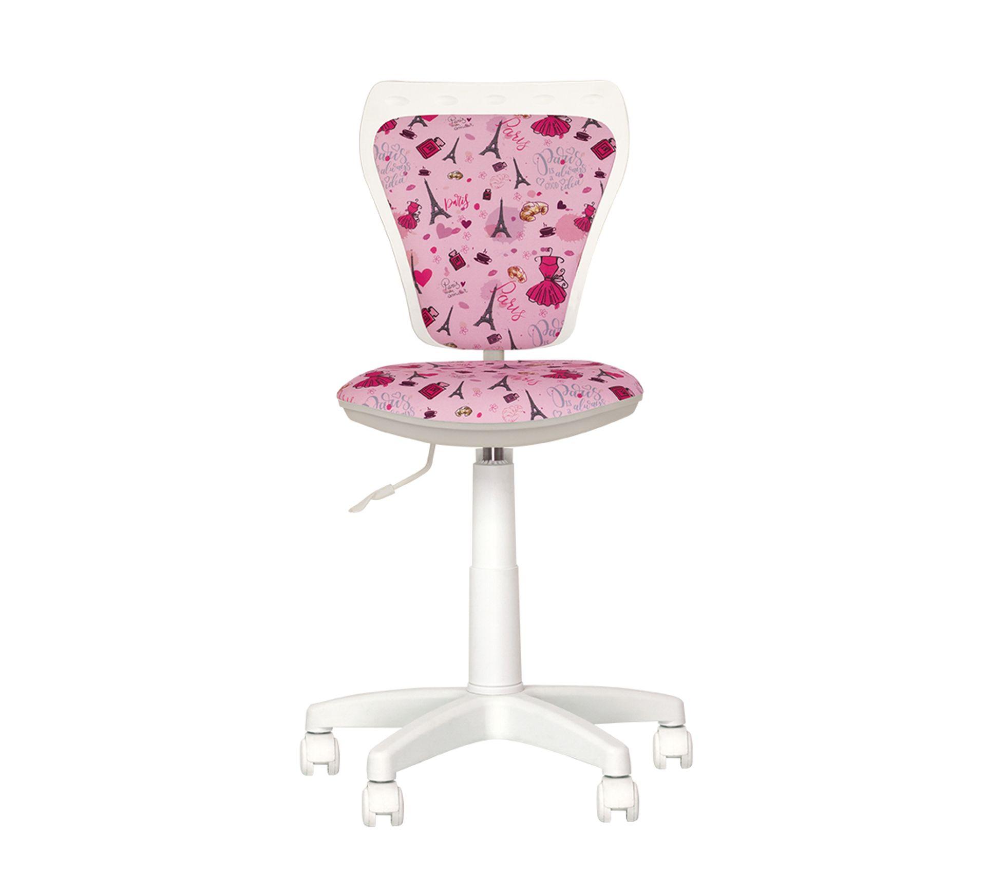 Ministyle Paris - Fauteuil, Chaise De Bureau Pour Enfant. Rose / Blanc.
