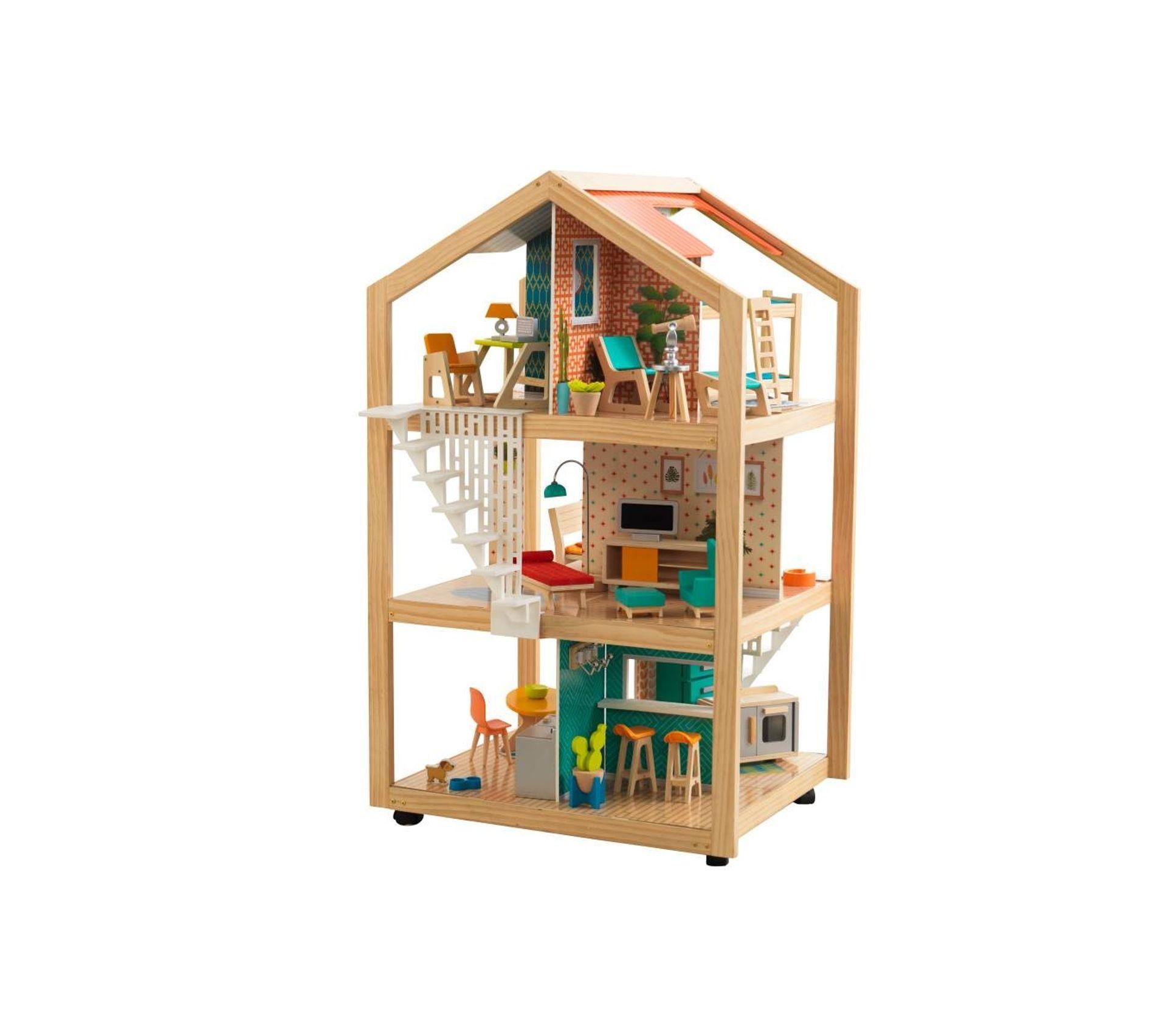 Maison de Poupées en bois contre-boîte