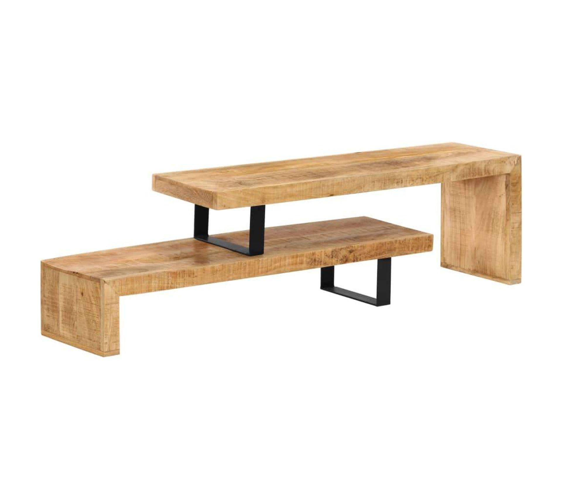 meuble tele buffet tv television design pratique bois de manguier massif 2502132
