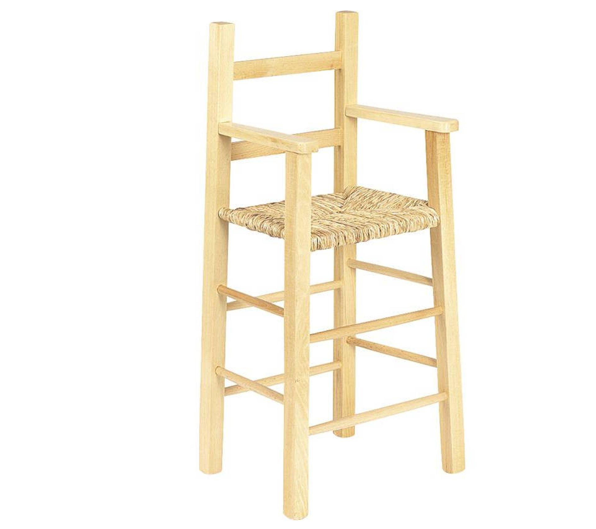 Chaise Haute En Hêtre Teinté