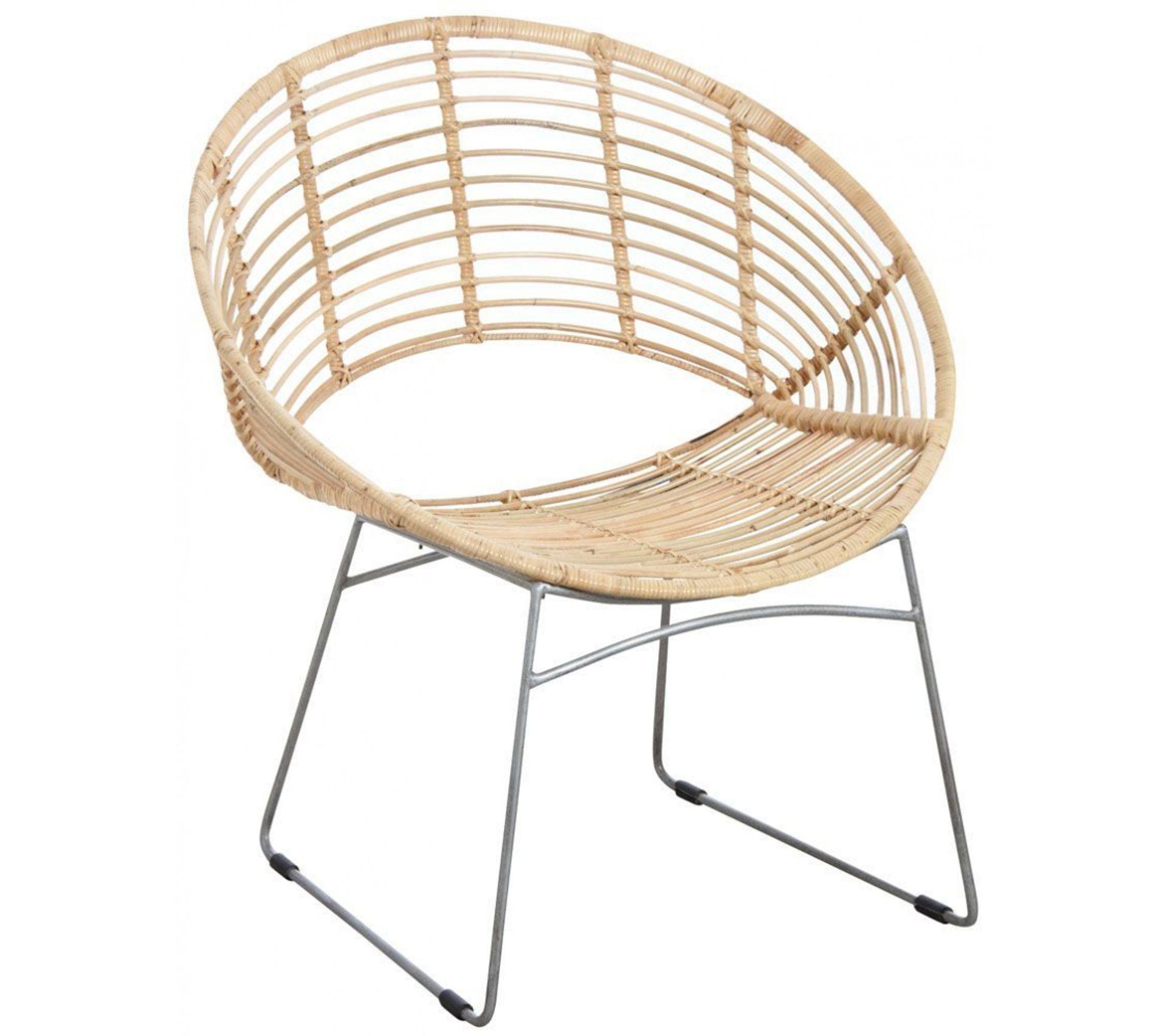 Maison Du Monde Fauteuil Rotin fauteuil rond en métal et rotin naturel