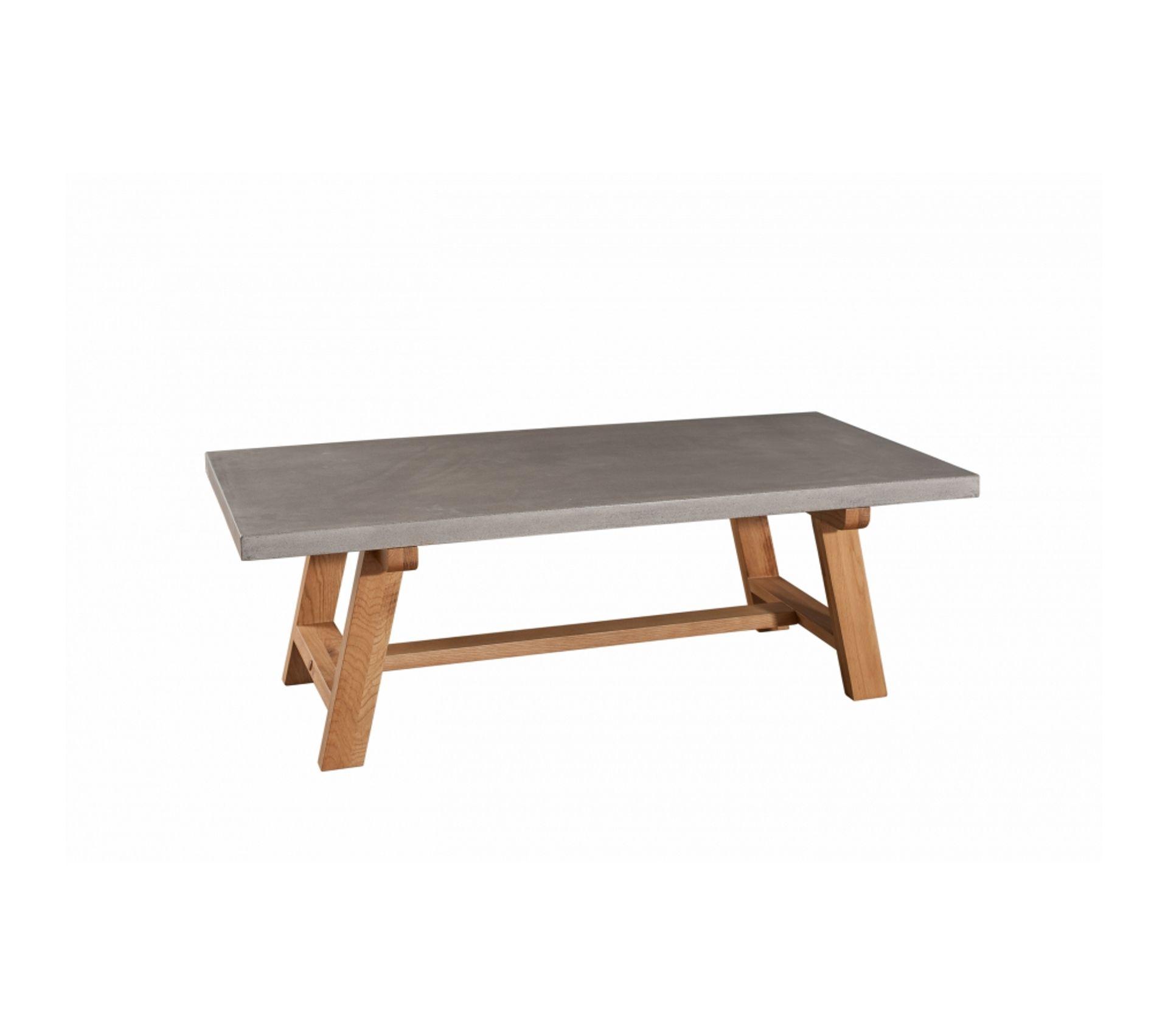 Table En Béton Ciré Et Bois table basse 120 x 60 cm bois et béton
