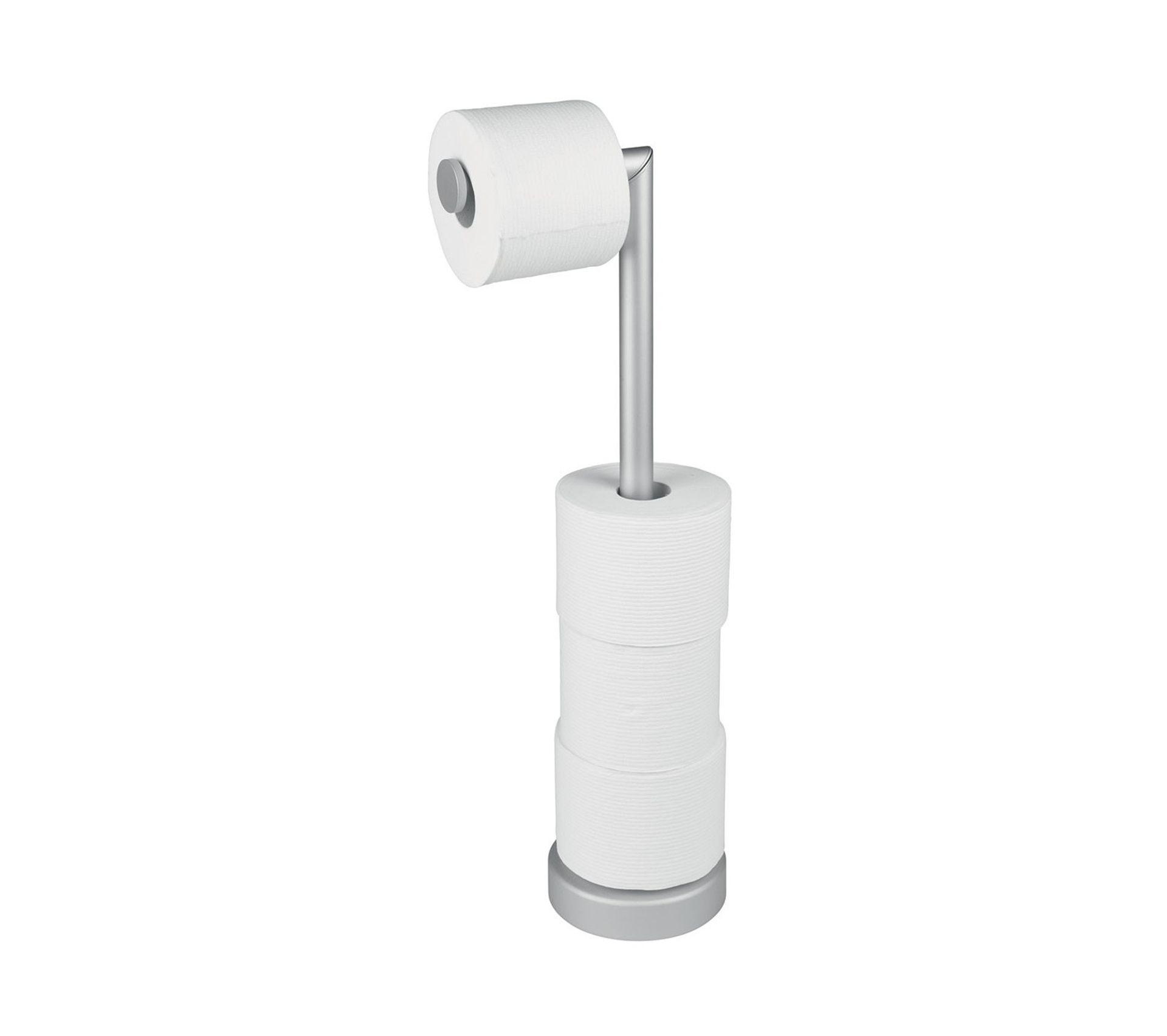 Boite Rangement Papier Wc porte papier toilette argenté
