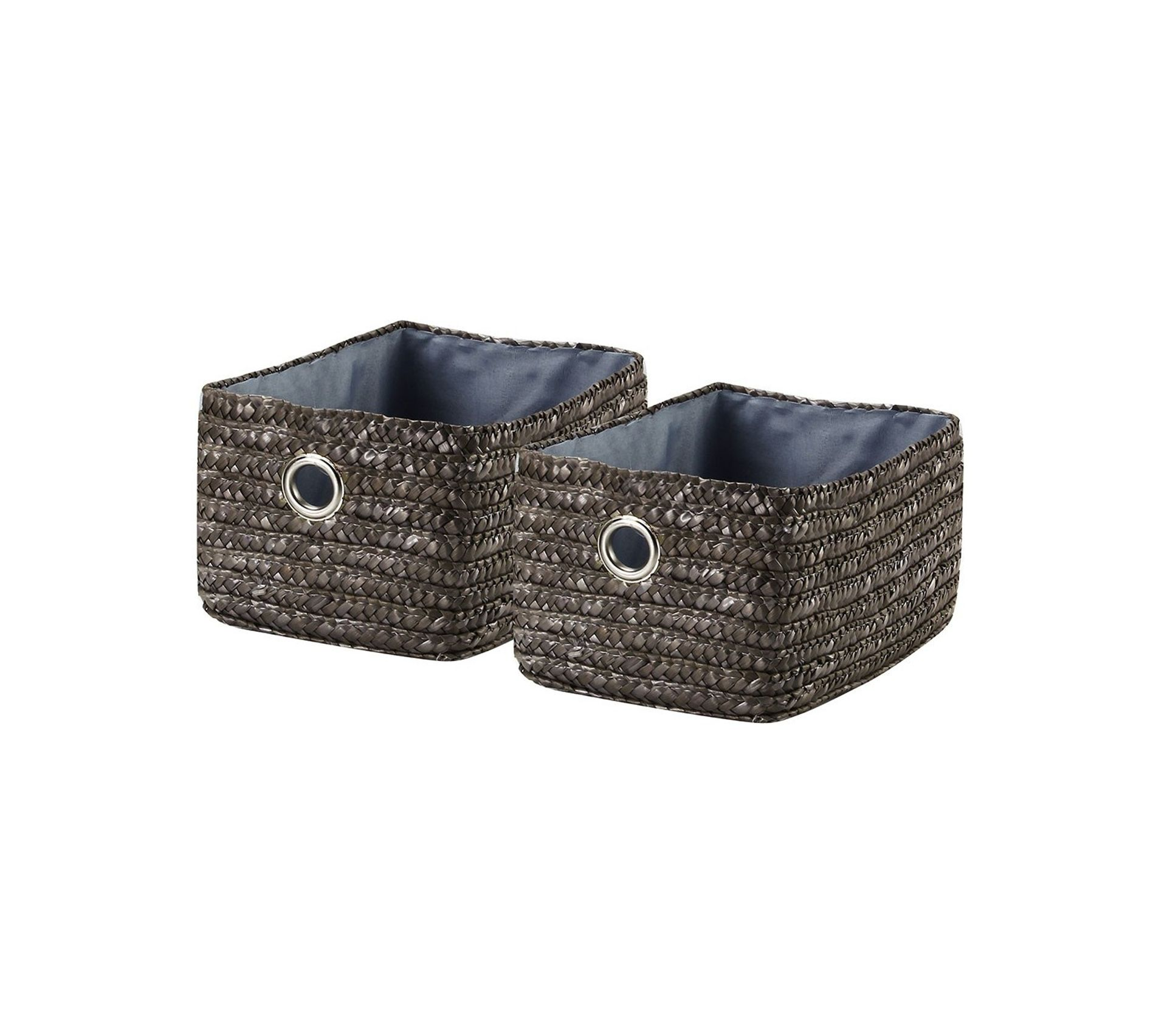 Paille De Fer Souris tiroir en paille tressé gris foncé vendu par 4