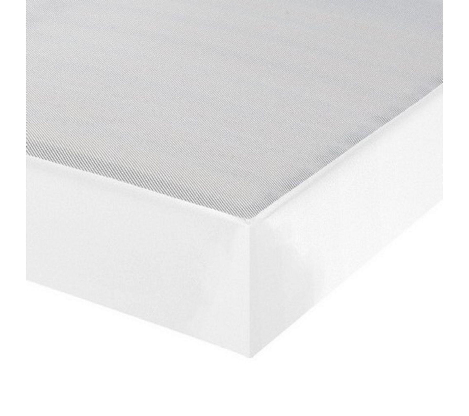 Sommier Tapissier 120x190 Omega Simili Blanc 2x18 Lattes Sommier Deco But