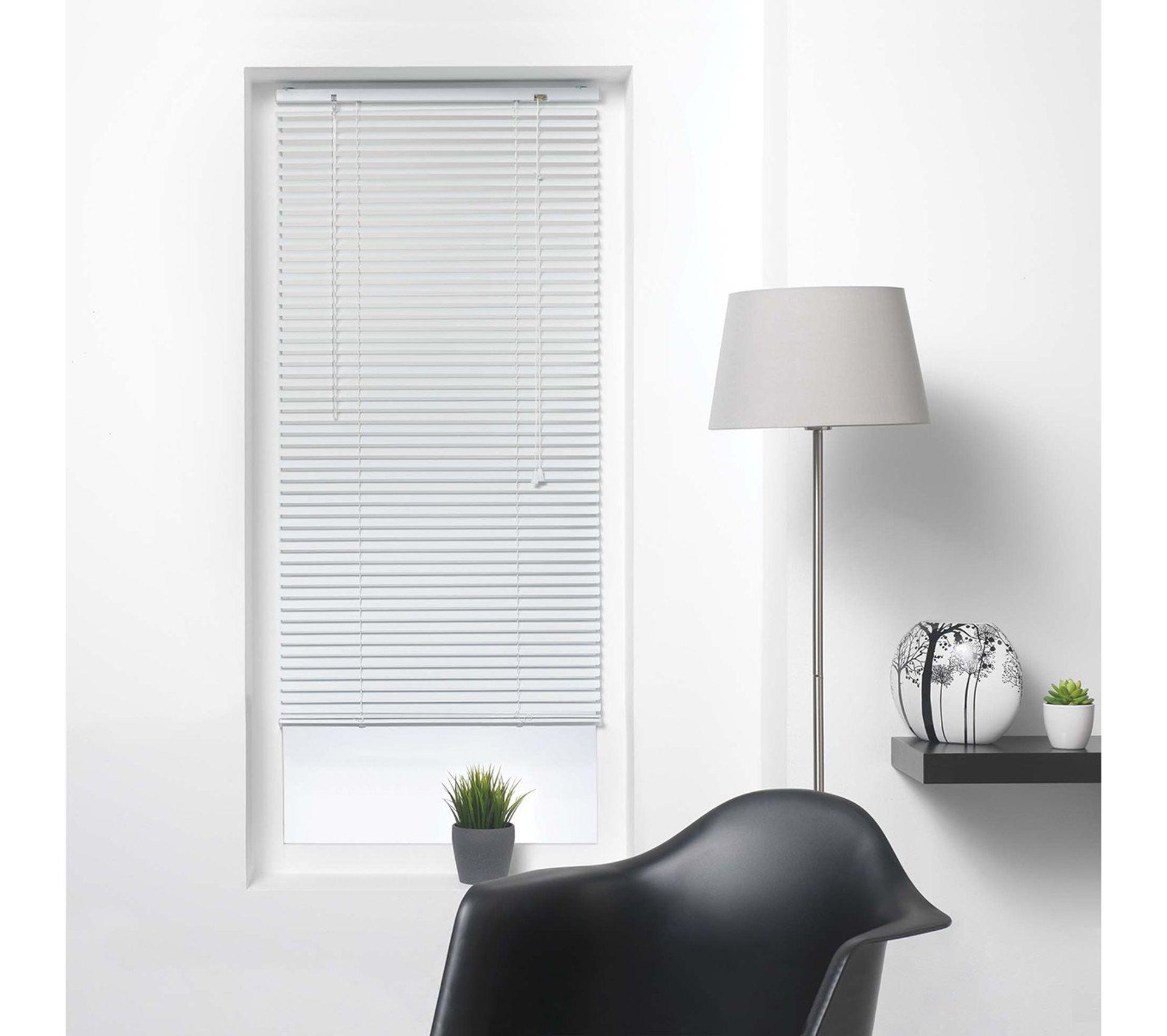 Store v/énitien /à lamelles 90x180 cm Aluminium Blanc