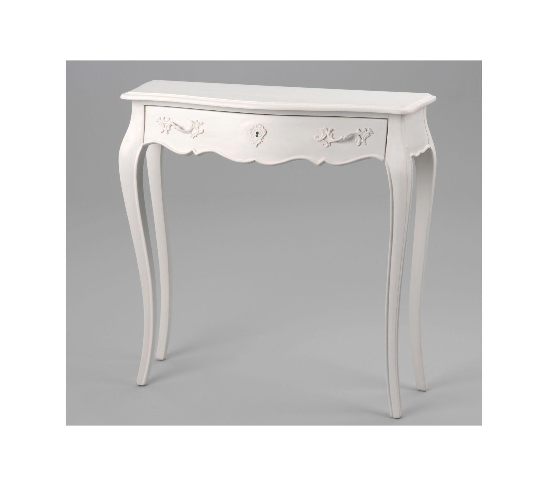 Console Blanche En Bois Mdf Murano Table Console But