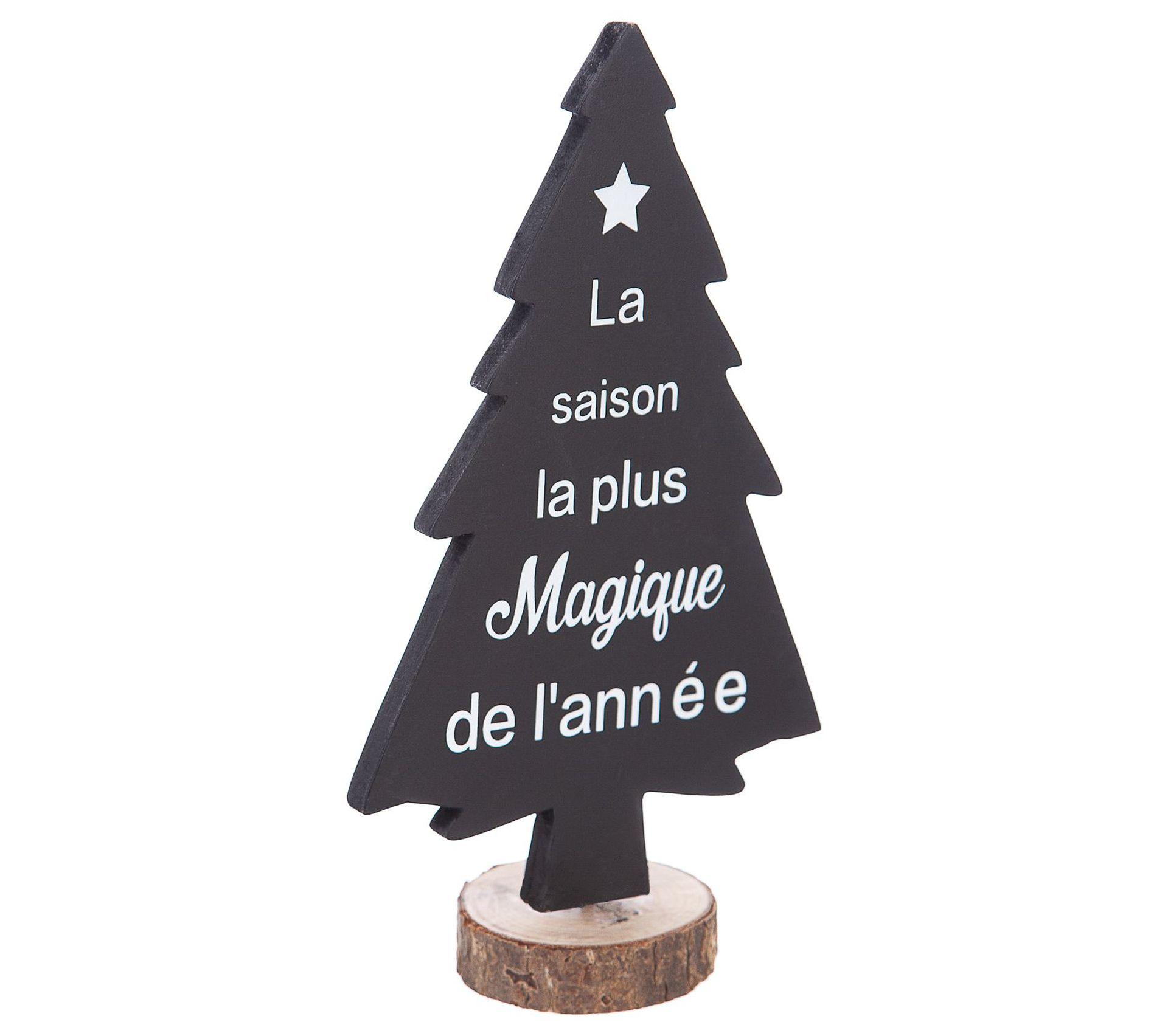 Cache Pied De Sapin Rotin sapin de noël base rotin - 13 x 7 x 23 cm - noir