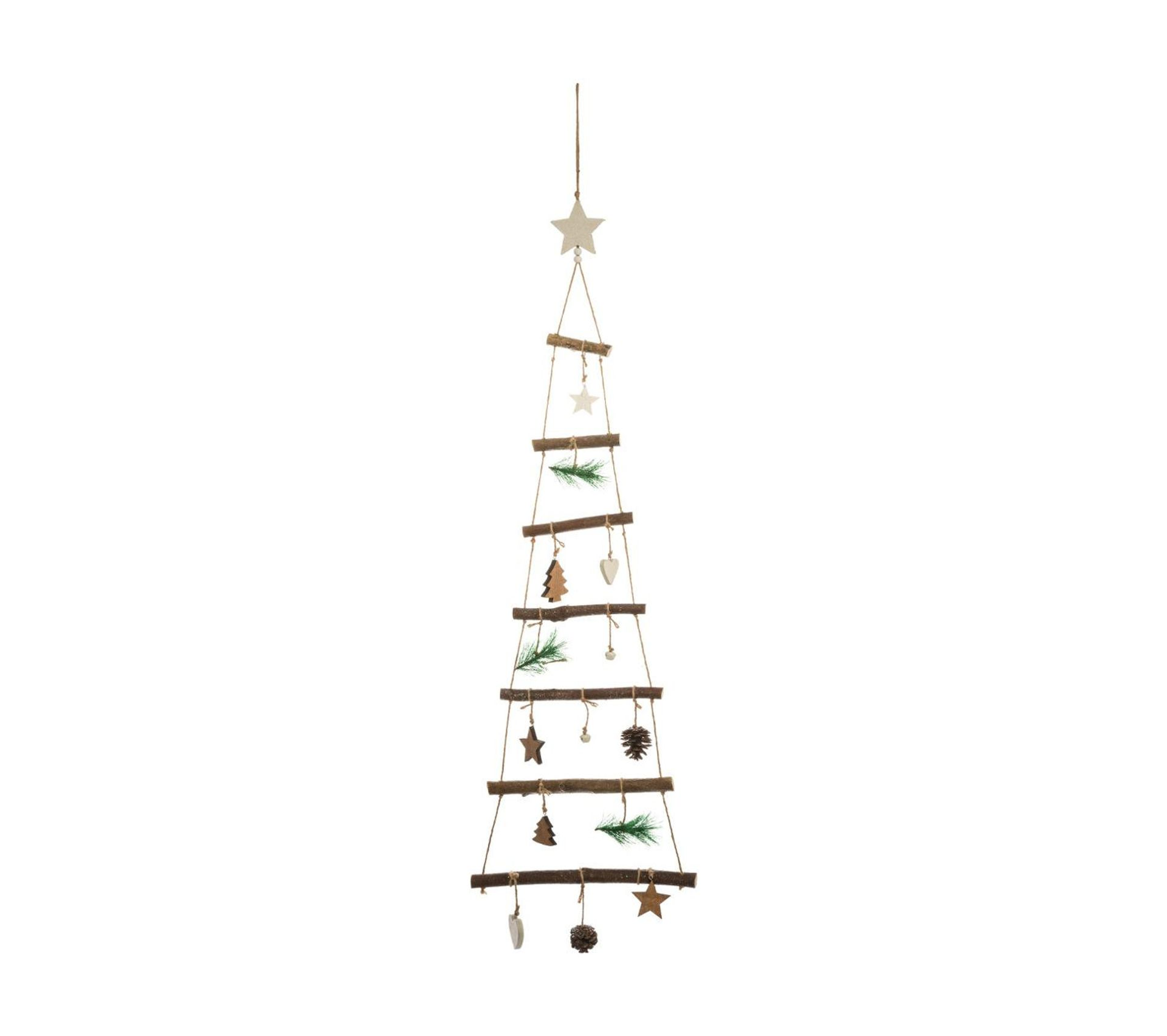 Sapin De Noel Suspendu En Bois décoration de noël sapin À suspendre en bois avec déco h 75 cm un noël  kinfolk
