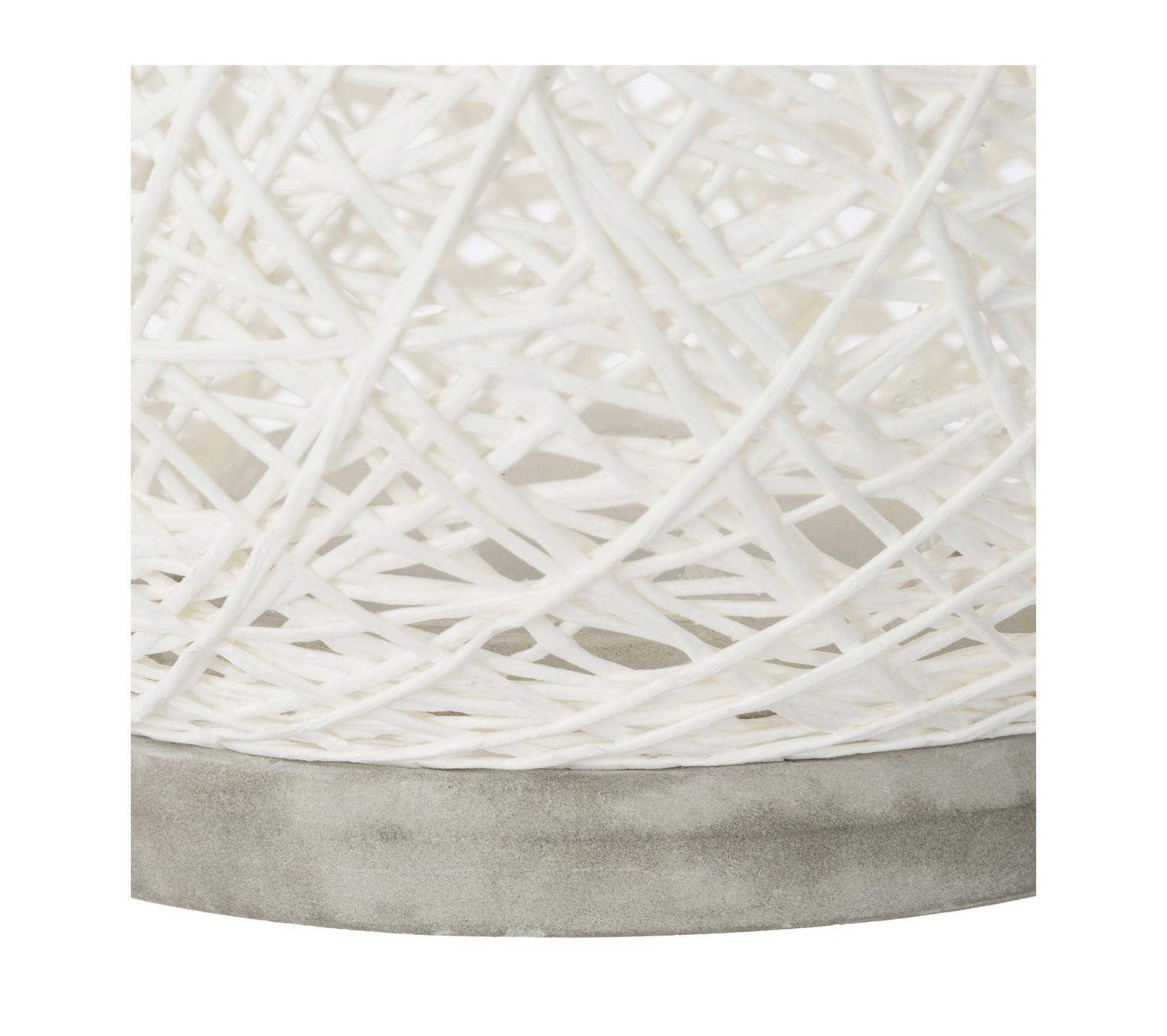 Lampe à Poser Papier Boule 20cm Blanc