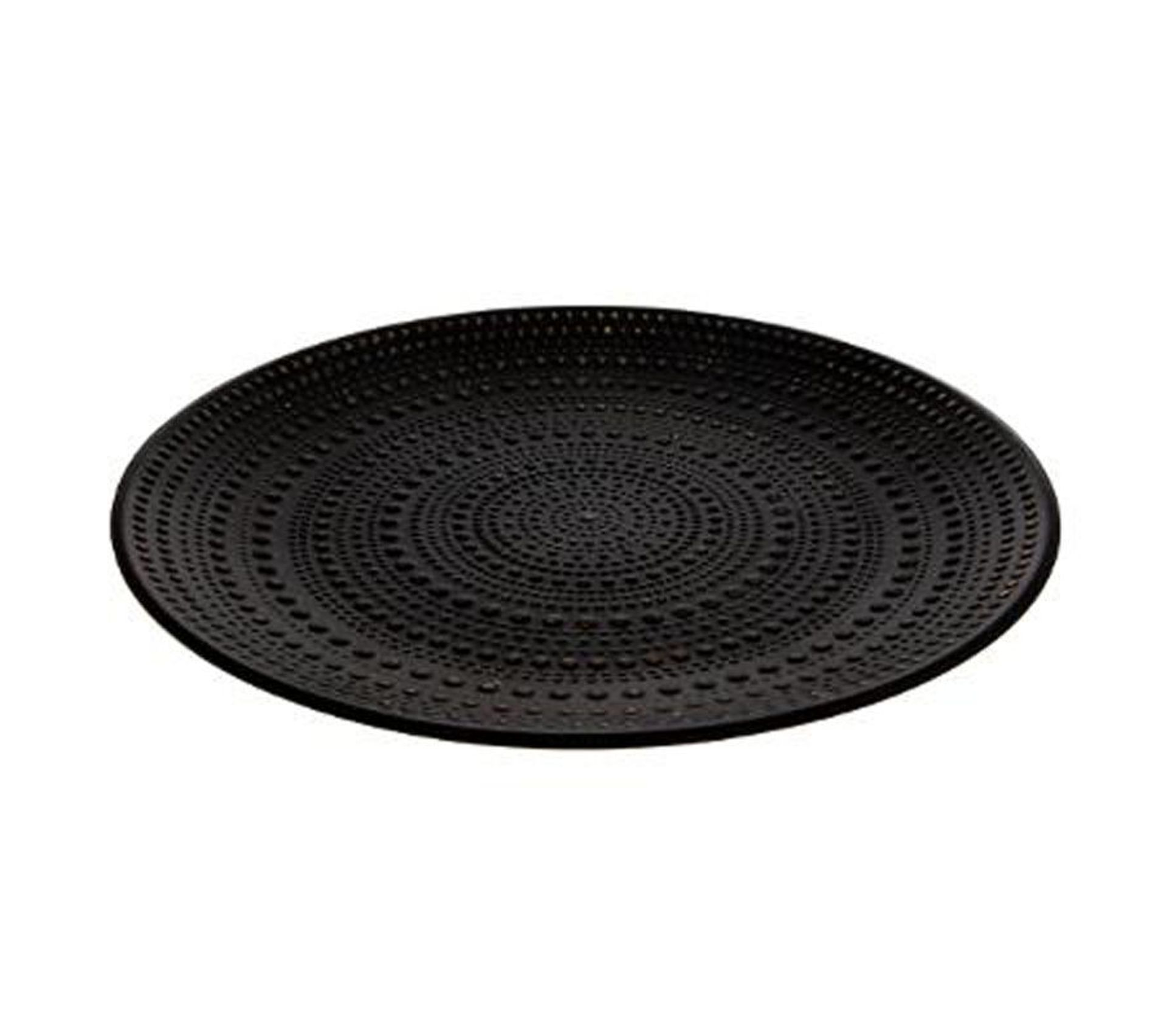 Centre De Table Rond Jungle Africa 40 Cm Noir Plat Saladier