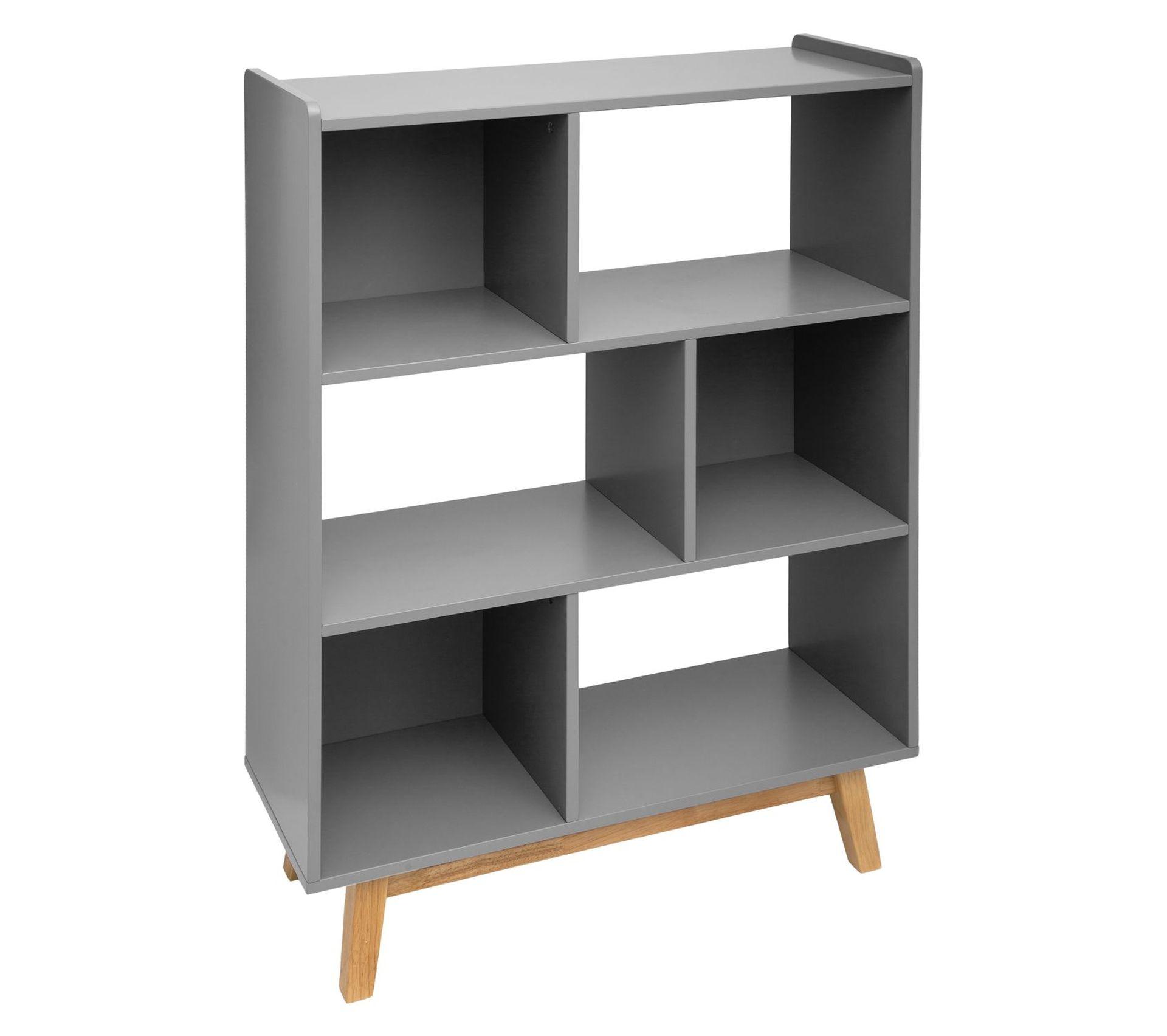 Etagere A Poser Sur Plan Travail etagère bibliothèque scandinave en bois elva - l. 80 x h. 112 cm - gris