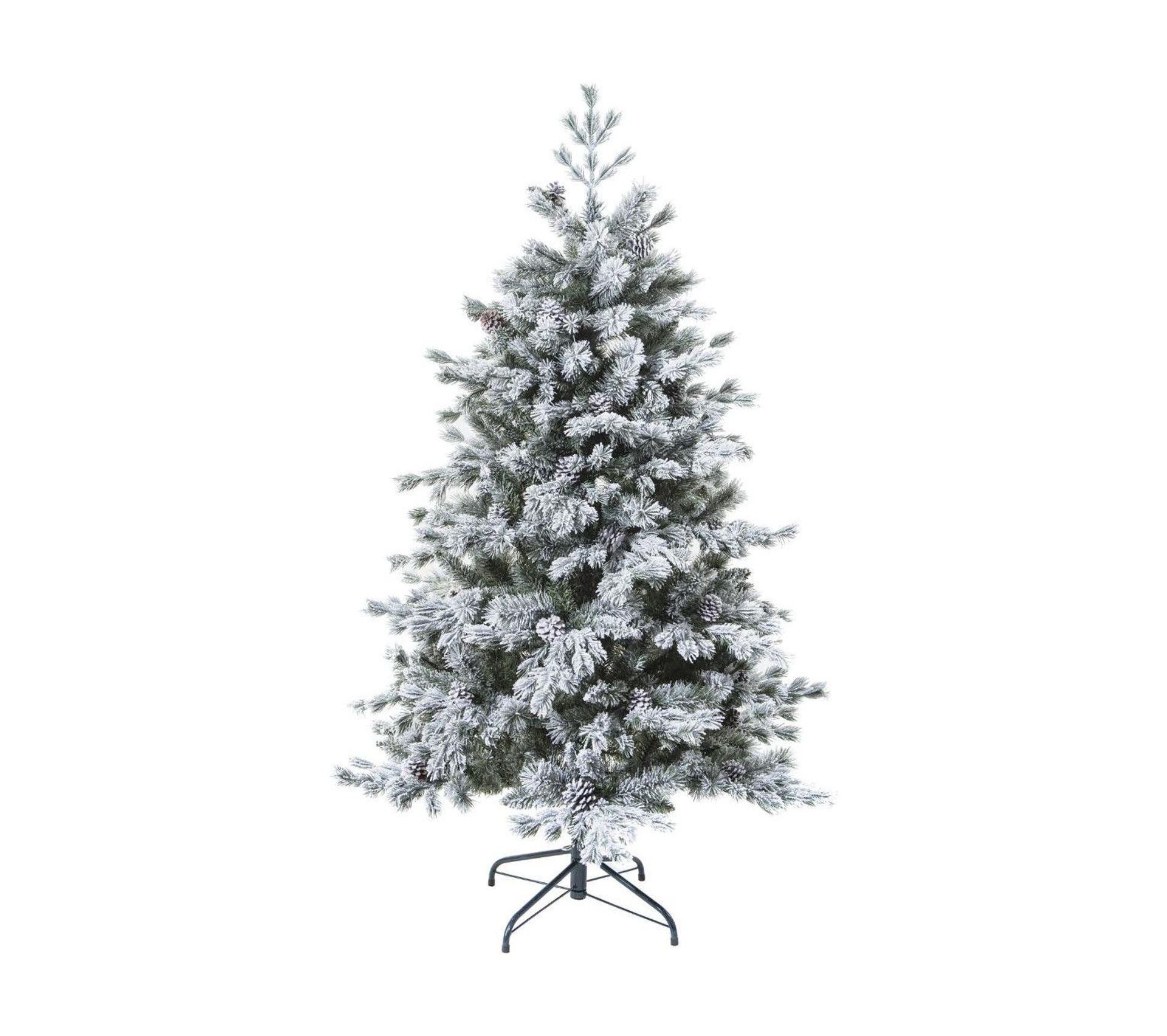 Sapin De Noël Artificiel Vert Floqué Enneigé Qualité Premium H 180