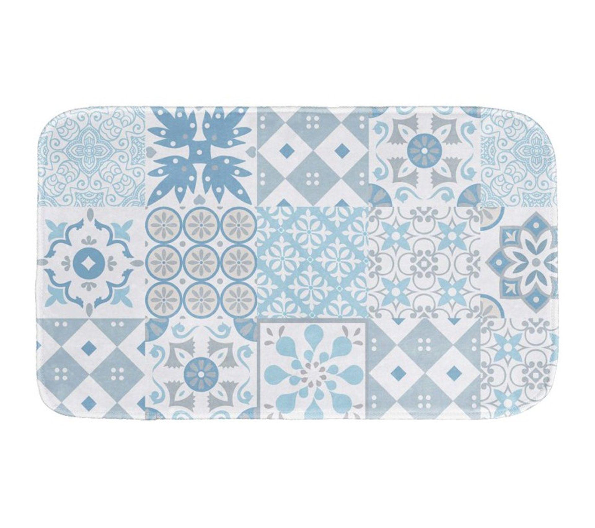 """Tapis Effet Carreaux De Ciment tapis de bain en microfibre effet """"carreaux de ciment"""