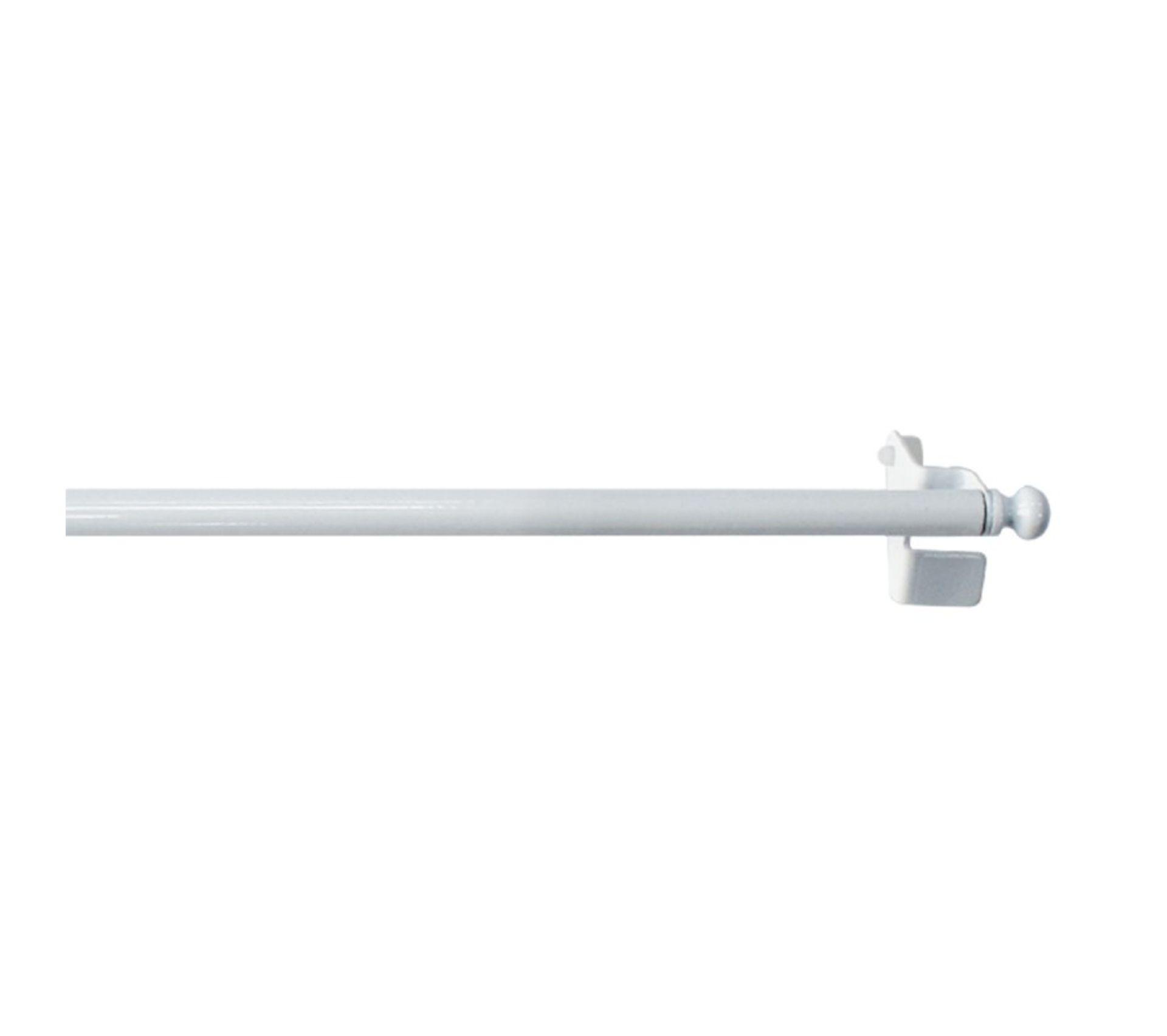 Tringle Extensible Sans Fixation tringle extensible de 9 mm À fixation rapide - 50 À 80 cm - blanc