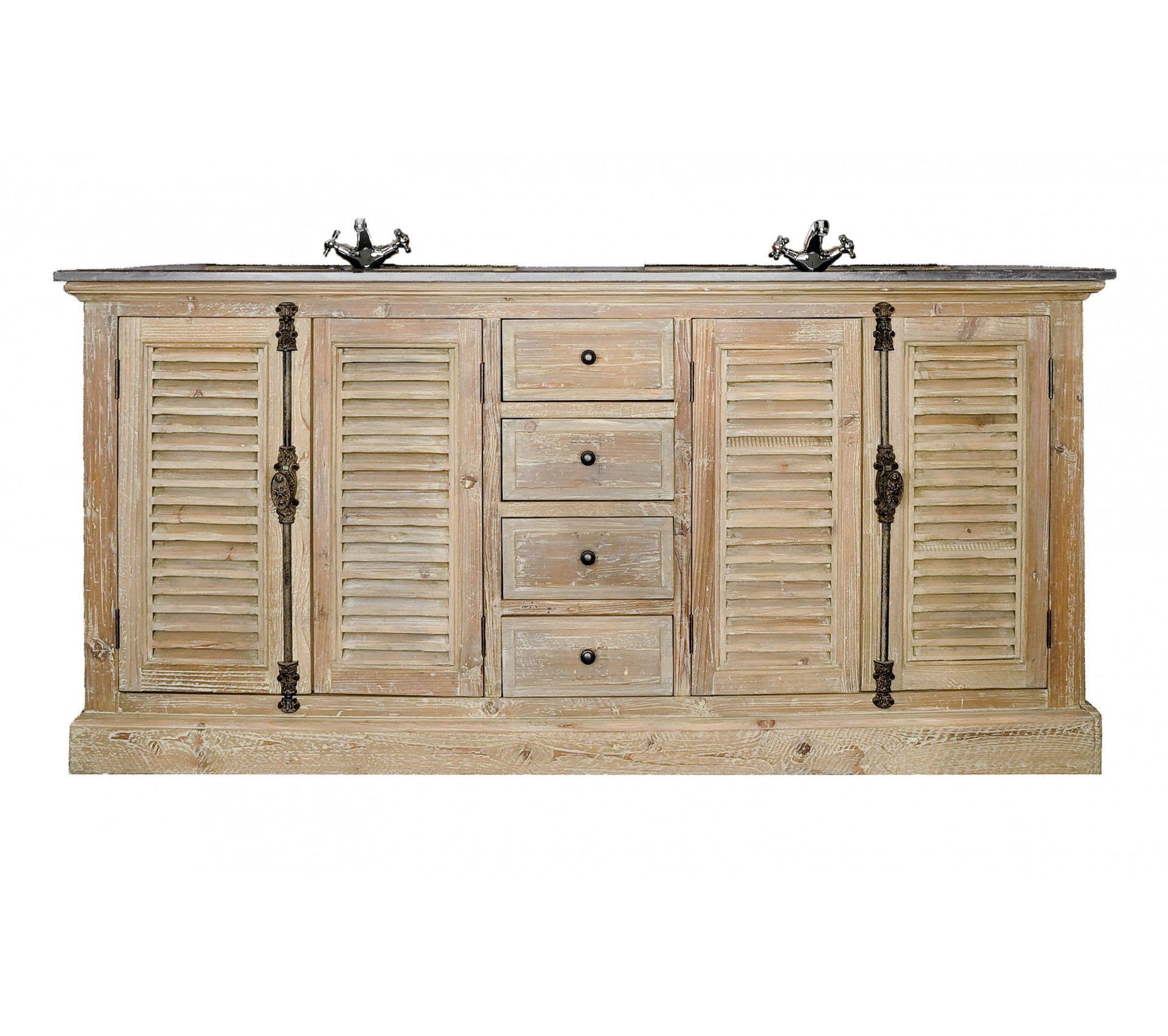 Meuble De Salle De Bain Osier meuble de salle de bain en bois persiennes - double vasque - hanoï