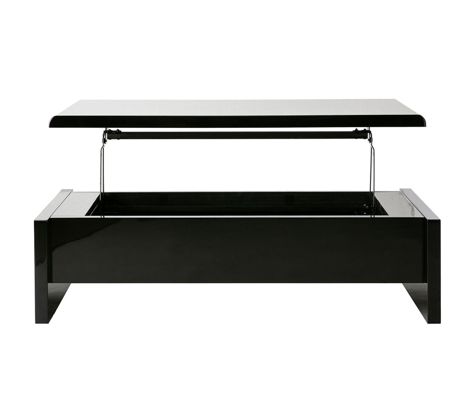 Table Basse Relevable Design Noire Avec Rangement Lola Table Basse But
