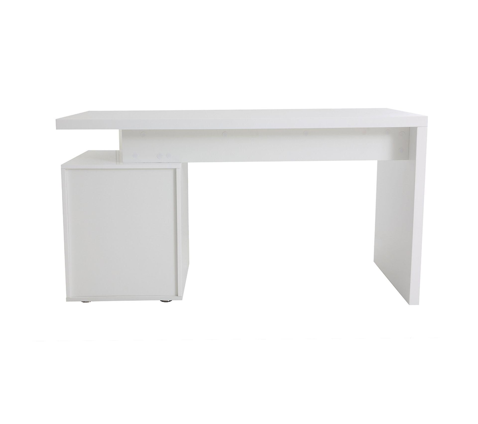 Difference Blanc Brillant Et Blanc Laqué bureau design blanc laqué brillant 3 tiroirs calix