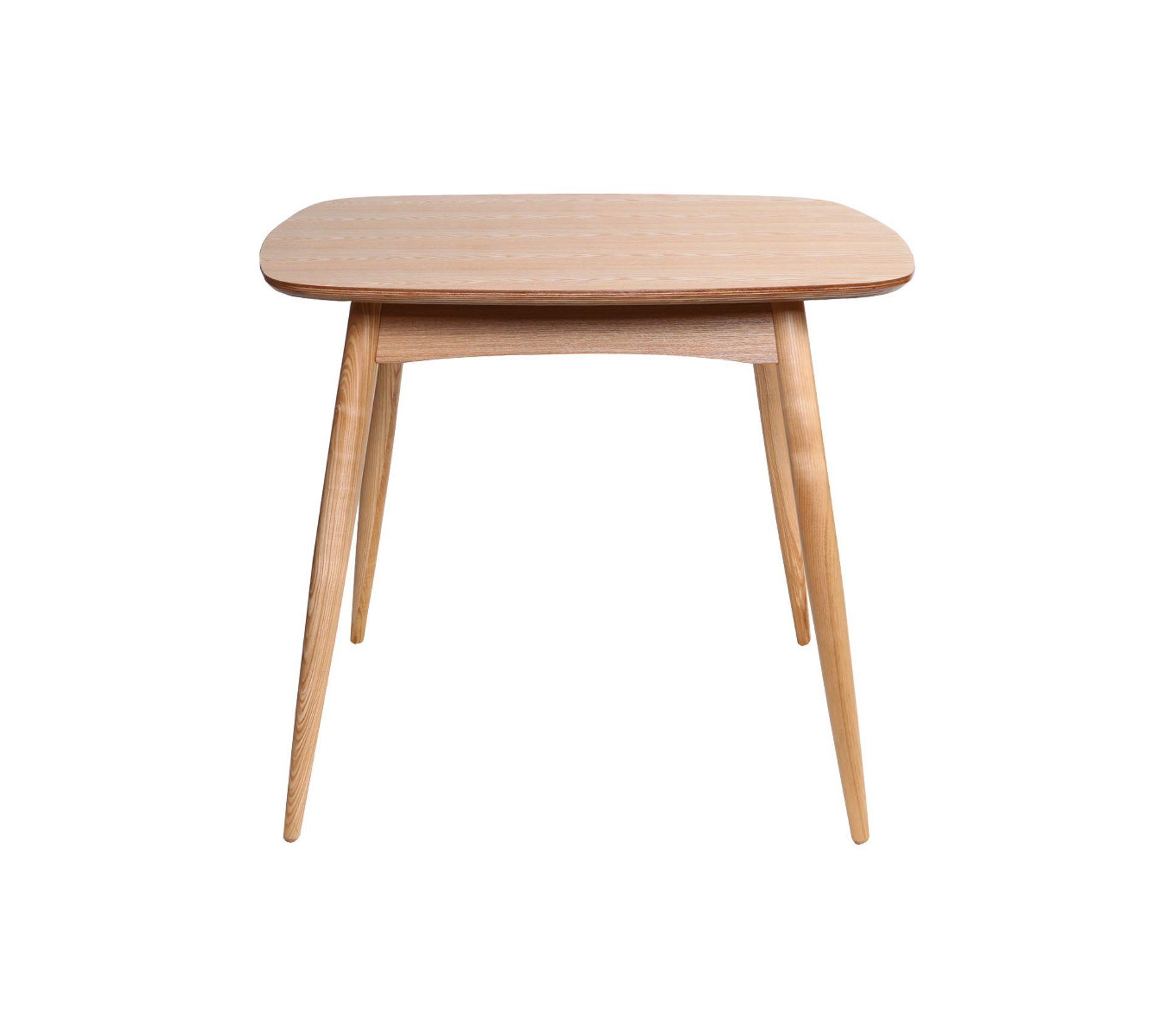 Table A Manger Carree table À manger design carrée frêne naturel l90 cm baltik