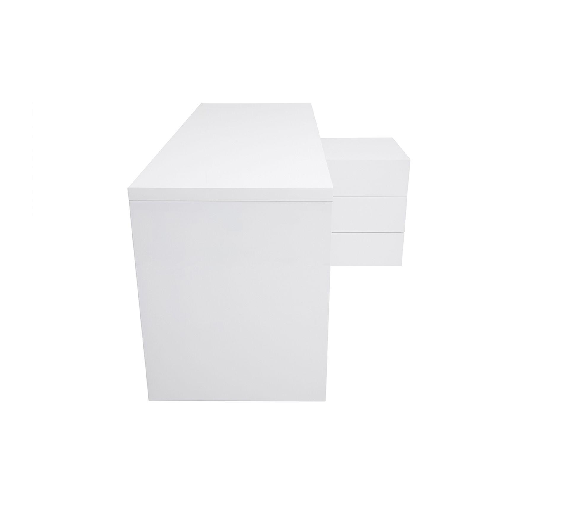 Difference Blanc Brillant Et Blanc Laqué bureau design blanc laqué brillant rangements À droite maxi