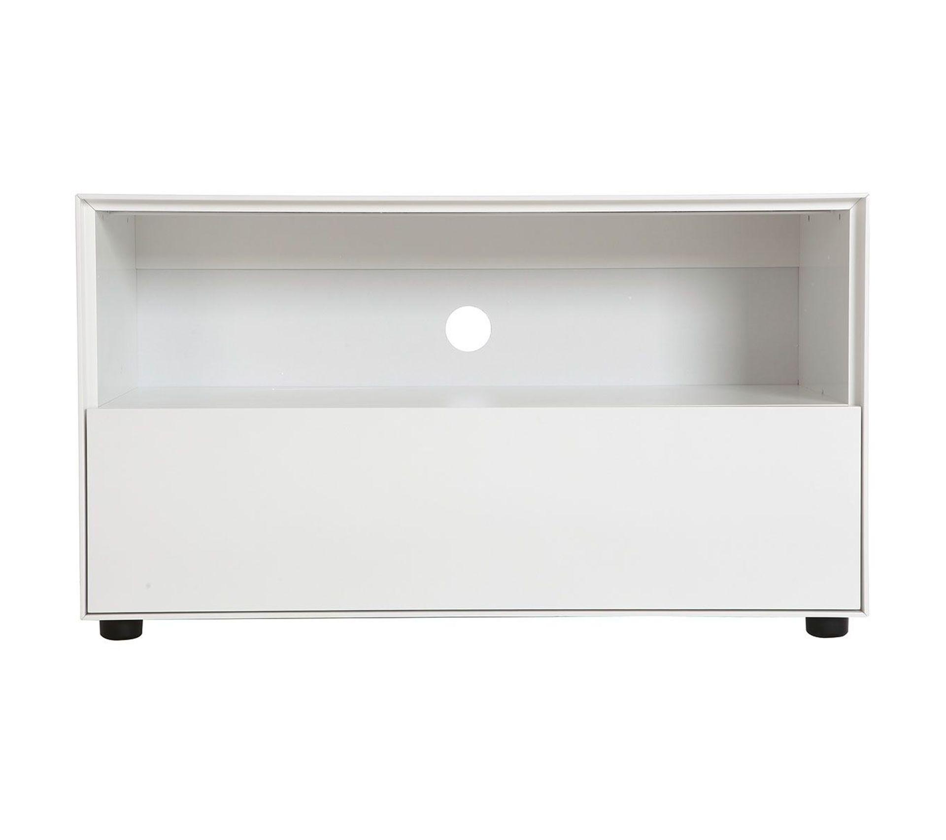 Hauteur Meuble Tele meuble tv design 90 cm blanc mat 1 tiroir mark