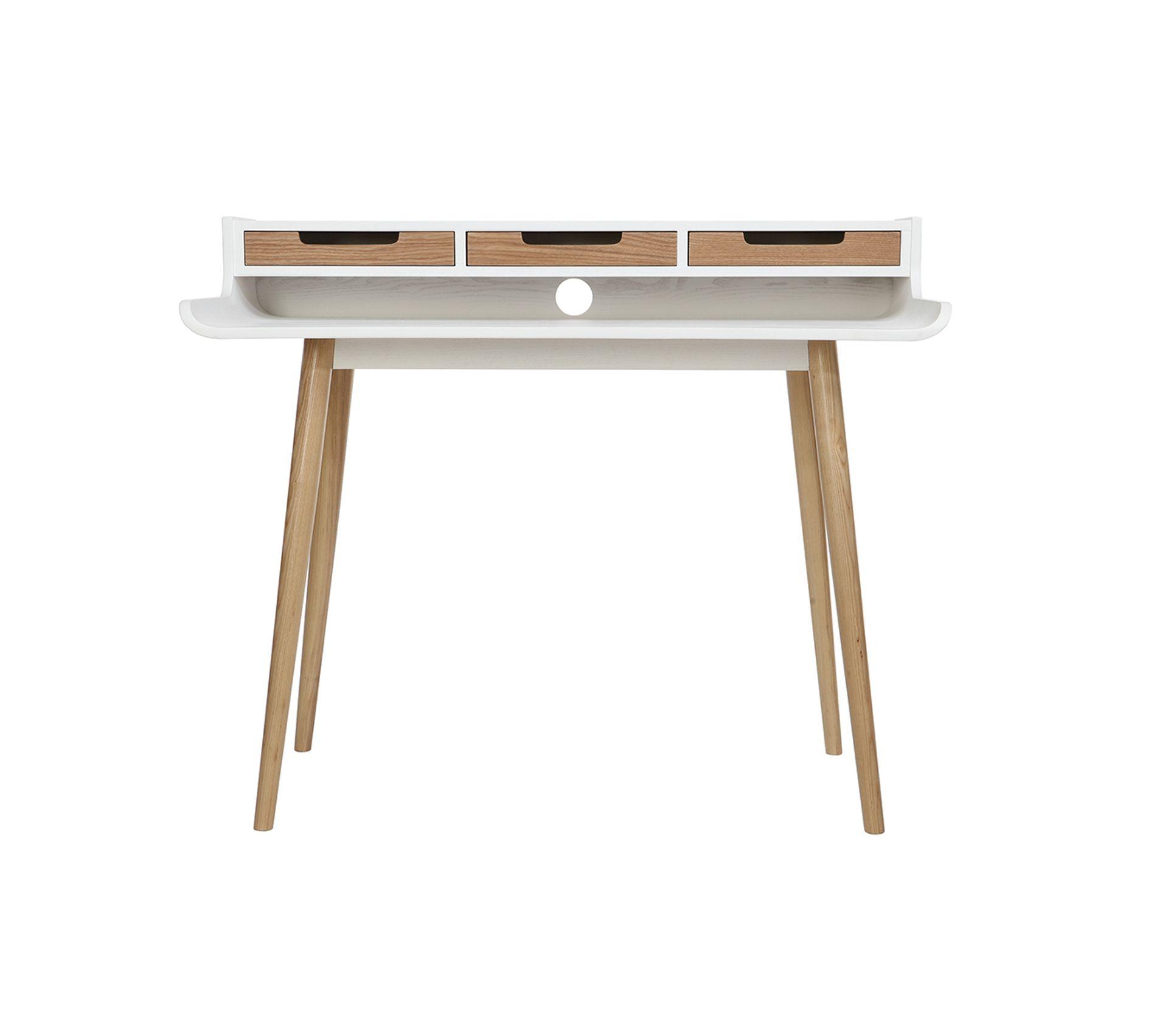 Table Haute Avec Rangement bureau scandinave bois blanc avec rangements opus