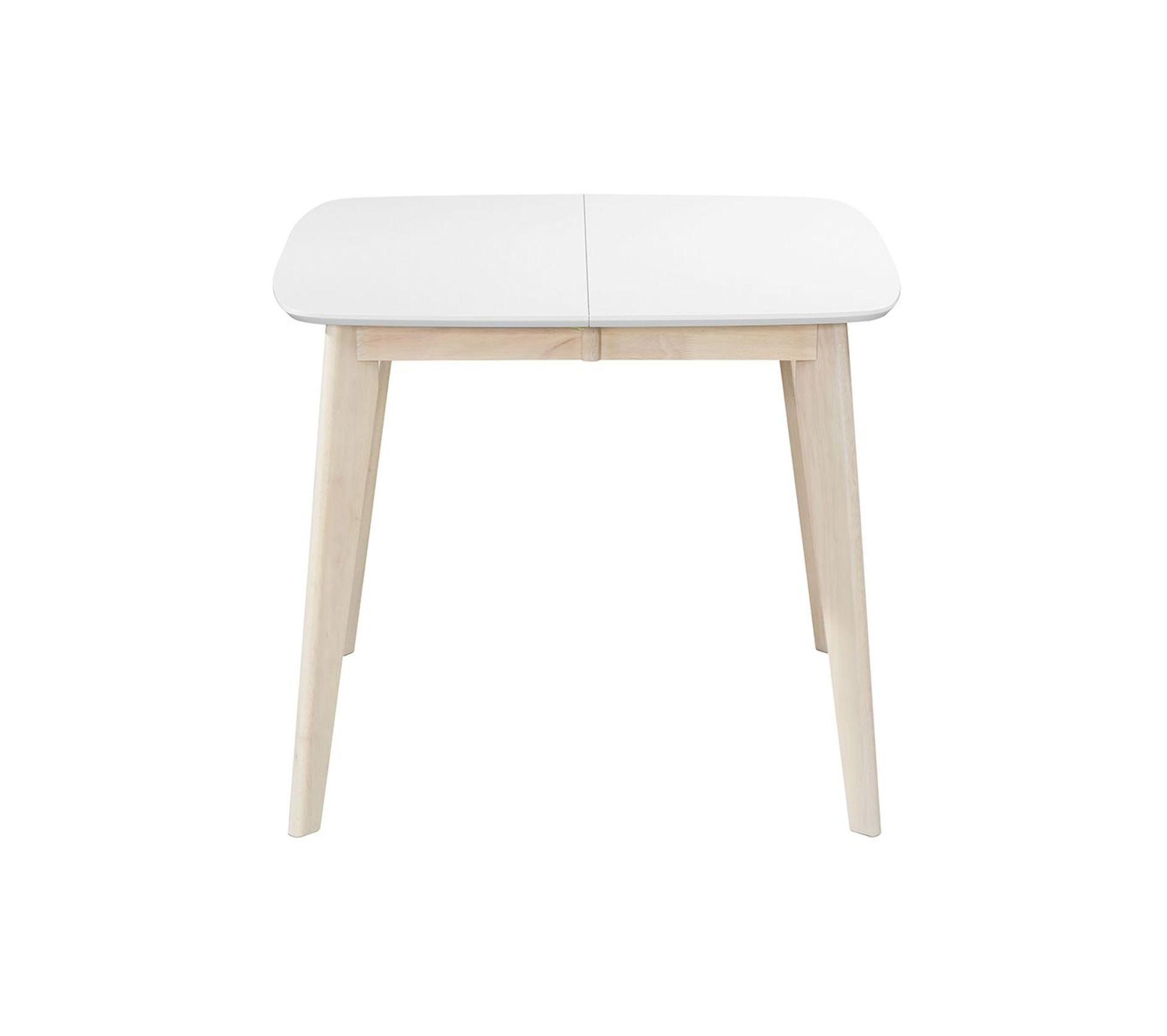 Table A Manger Carree table À manger extensible scandinave carrée blanche et bois l90-130 cm leena