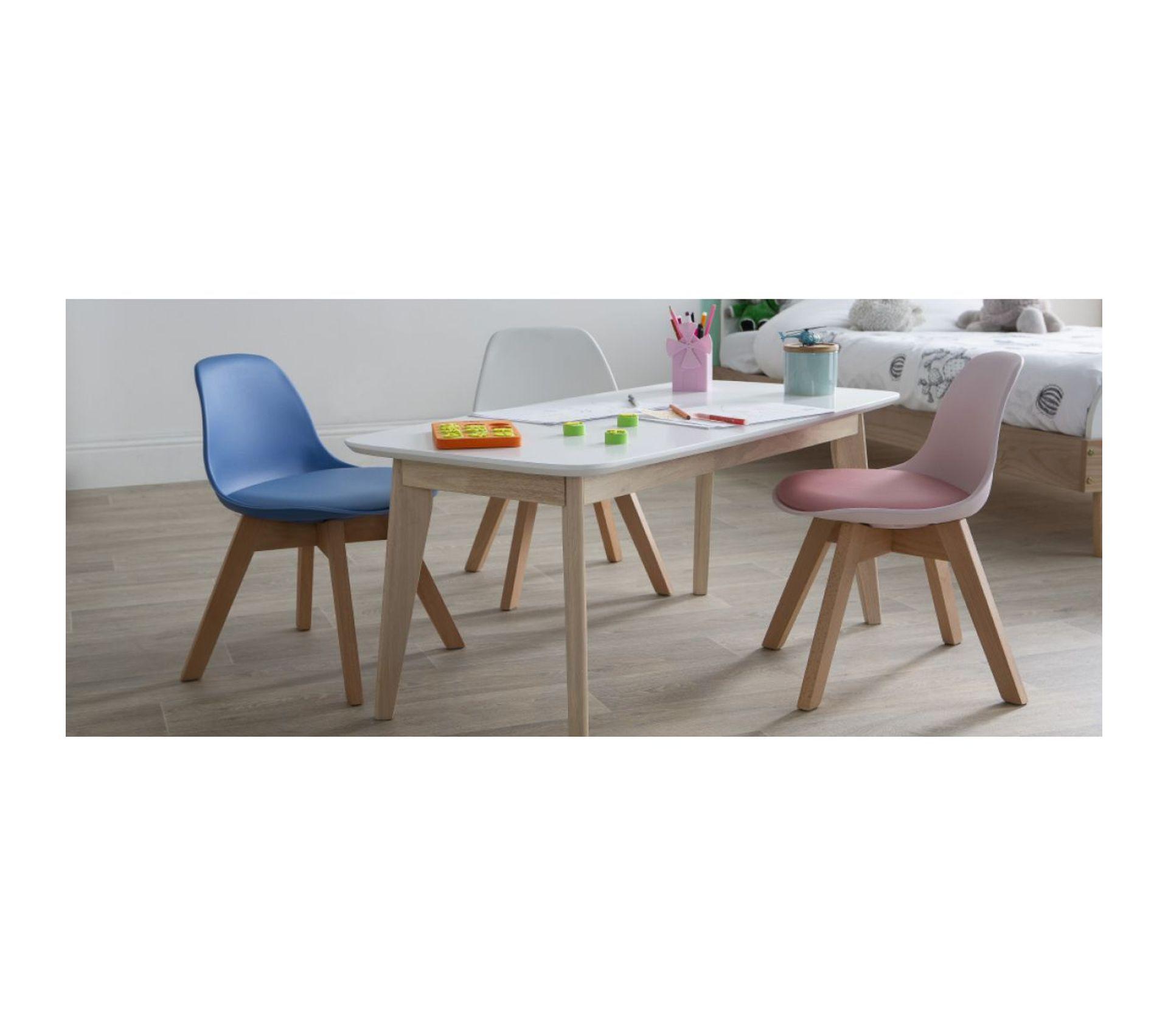 Table Blanche Pied Bois chaise enfant blanche avec pieds bois baby pauline