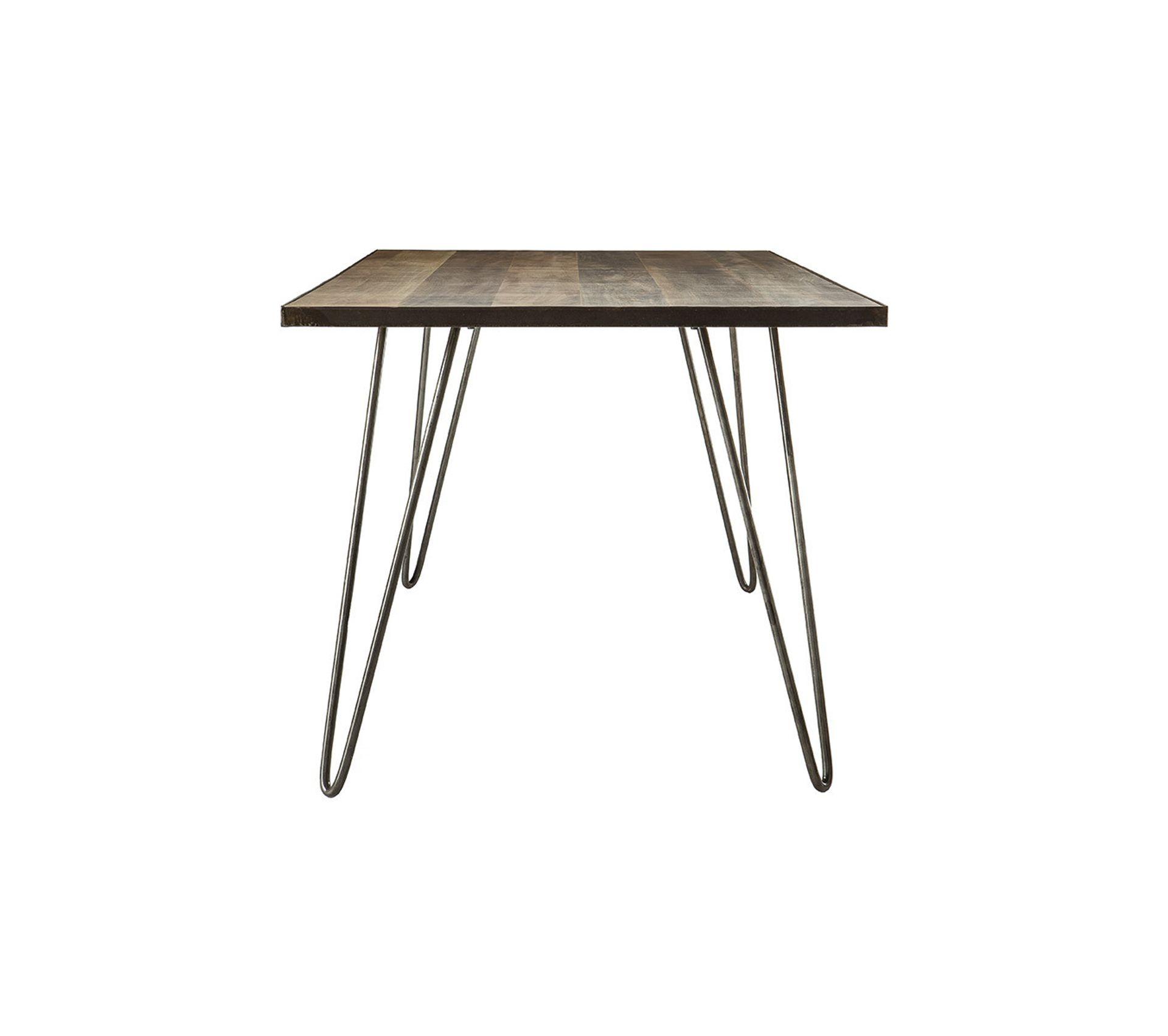 Table À Manger Industrielle table À manger industrielle rectangle bois métal l160 cm atelier