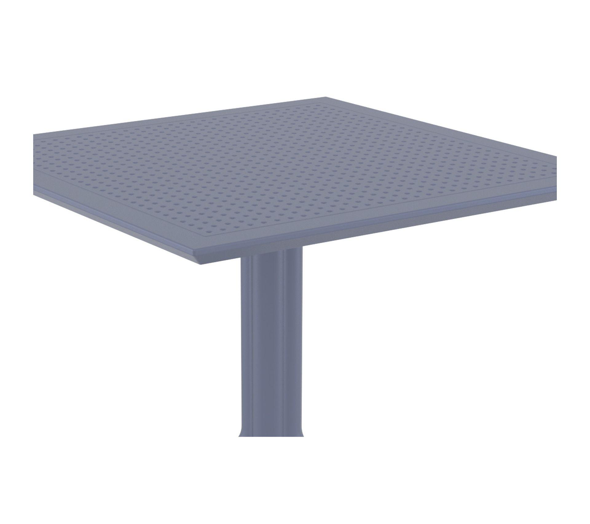 Table A Manger Carree table À manger carrée design grise intérieur / extérieur oskol