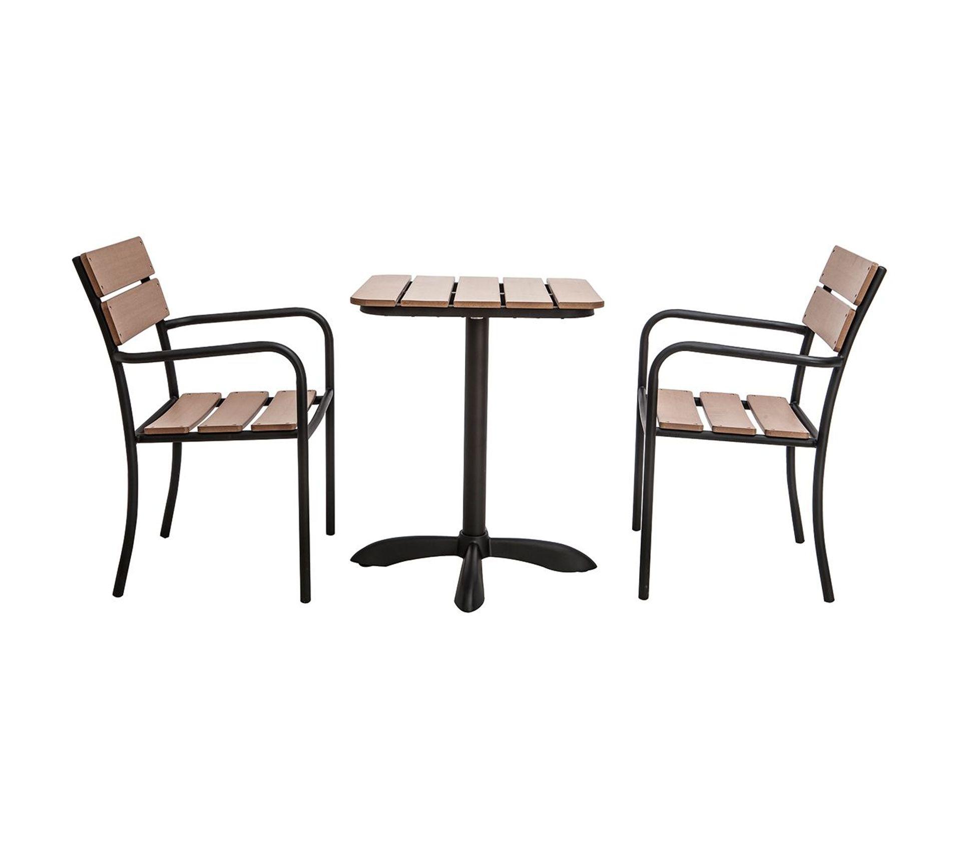 Nettoyer Salon De Jardin En Bois salon de jardin avec table bistrot et 2 chaises noir et bois pub
