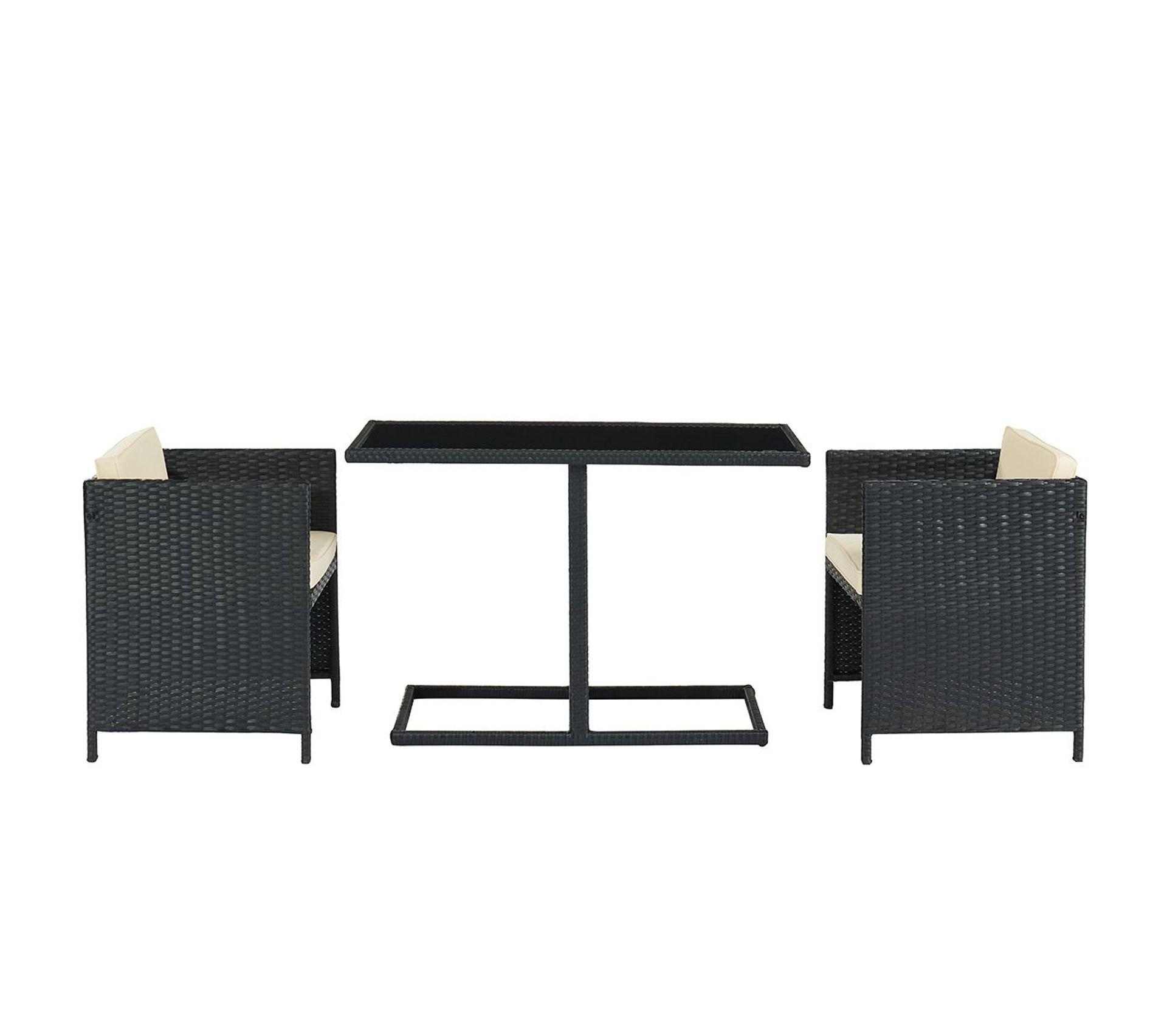 Salle A Manger De Jardin En Resine Tressee table de jardin en résine tressée avec 2 chaises piccolo