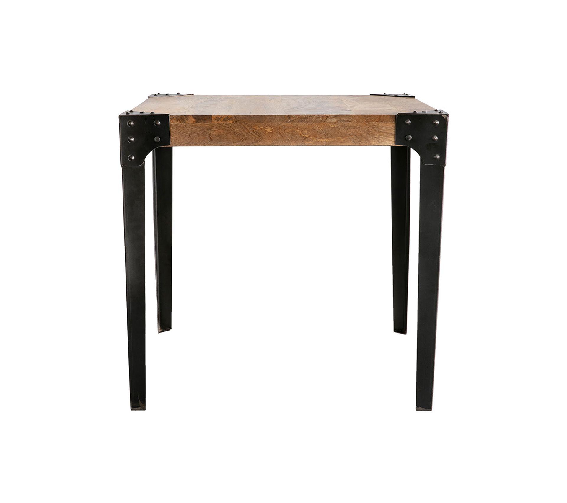 Table À Manger Industrielle table À manger industrielle acier et bois l80 cm madison