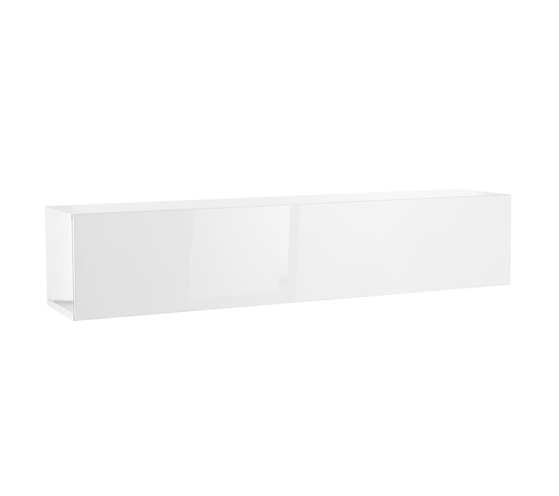 Difference Blanc Brillant Et Blanc Laqué Élément mural tv horizontal laqué blanc brillant eternel